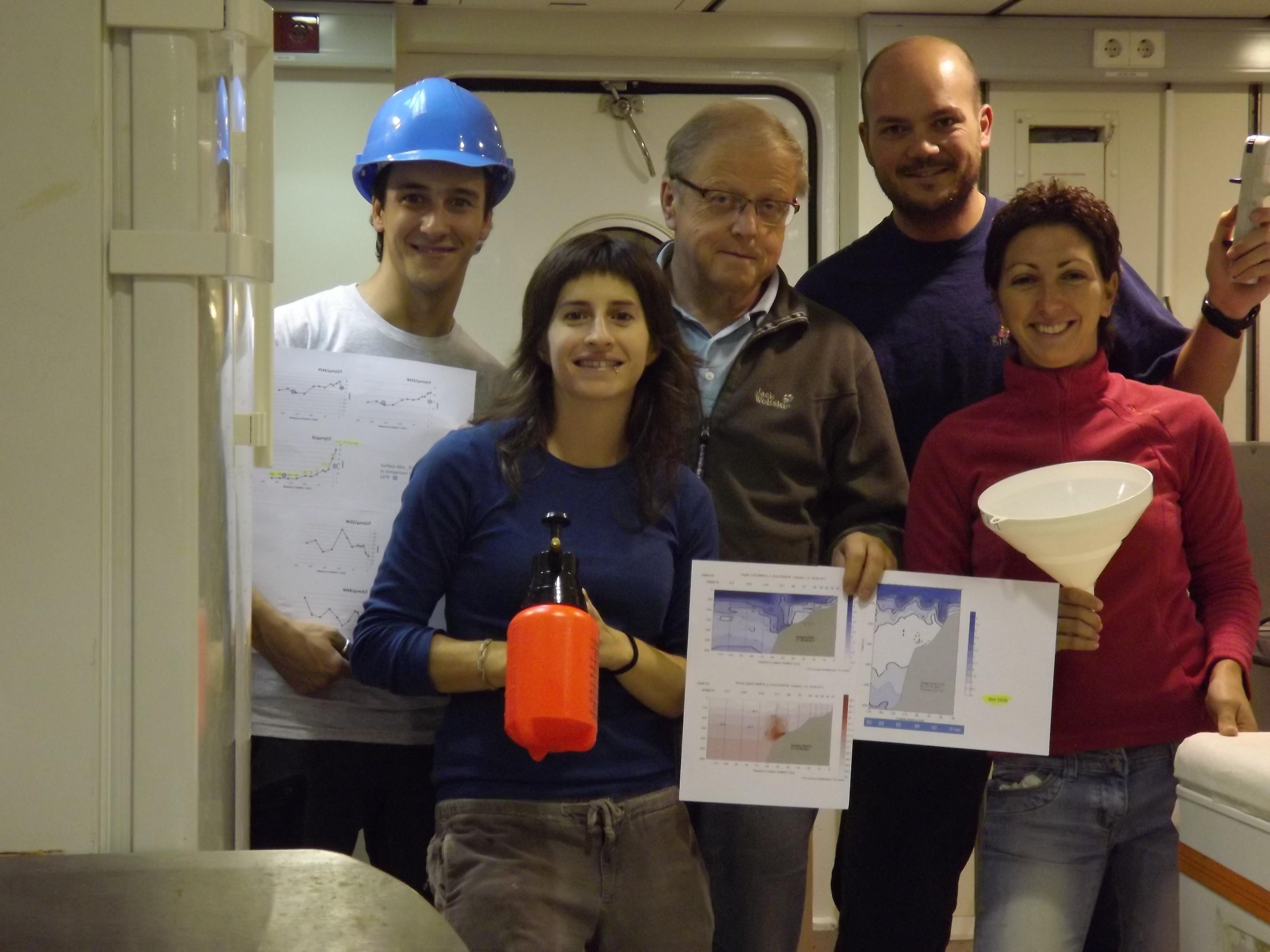 De izquierda a derecha Igor Fernández, Yeray Santana, Gara Franchy y Alicia Herrera