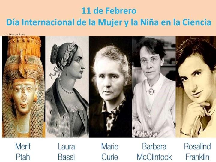 Cartel celebración Día Internacional de la Mujer y la Niña en la Ciencia